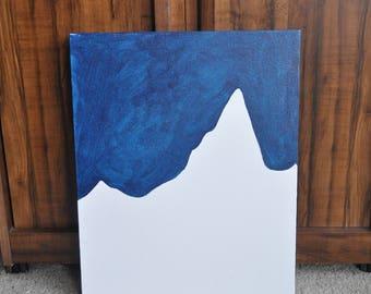 Minimalist Mountains - Original Acrylic Painting