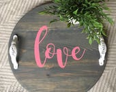 Love - mini round tray...