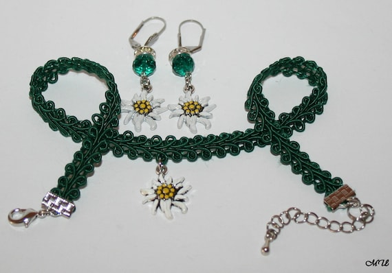 Edelweiss jewelry-Set-choker-earrings