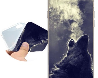 Coque Wolf Hipster Clear Soft TPU Silicone Case for iPhone X 8 7 6 6S Plus SE 5S 5 Cover for iPod Touch 6 5 Case.