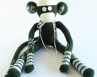 Milwaukee Bucks - Sock Monkey - NBA - Wisconsin - National Basketball Association - Green Sock Monkey - Basketball Sock Monkey - Milwaukee