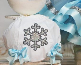 Winter Wonderland Birthday Bloomers - 1st Birthday Underwear - Girls Smash Cake - Panties - Snowflake