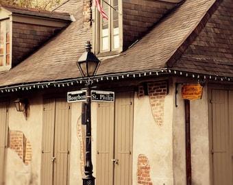 new orleans bar room art bourbon street architecture art man cave photography Jean Lafitte Blacksmith Bar