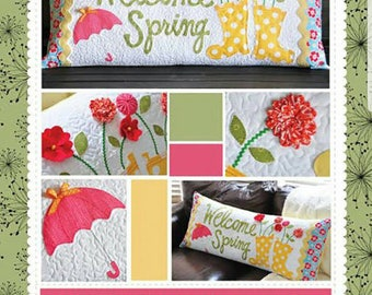 Welcome Spring Bench Pillow Pattern was designed by Kim of KimberBell