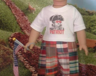 Party Like a Patriot for American Boy Dolls
