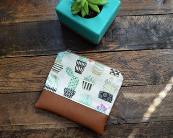 Cactus Pattern Coin Purse