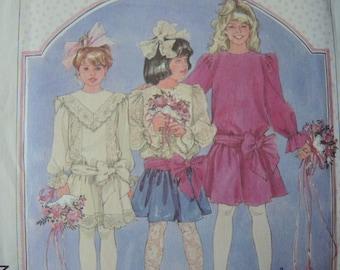 vintage 1980s simplicity sewing pattern Cinderella 7865 girls dress size 10 uncut