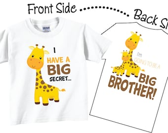 I'm Going To be A Big Brother Shirts and Tshirts Giraffe Tees