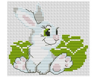Cross Stitch pattern Bunny counted embroidery