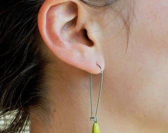 Yellow sleeper earrings