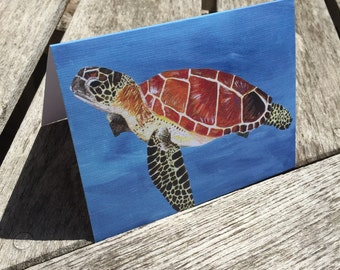 Sea Turtle - Stationary (Blank Cards)