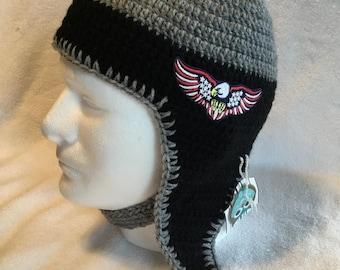 Crochet helmet Hat for boys