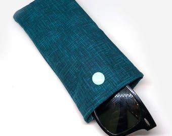 Blue/teal sunglass case