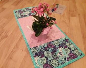 ON SALE, Handmade, Table Runner, Purple Runner, Pink Table Runner, Purple Tablecloth