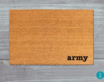 Army Doormat, Army Door Mat, Army Welcome Mat, Army Mat, Military Doormat, Army Rug, Army, Military Door Mat, Army Housewarming, Army Gift