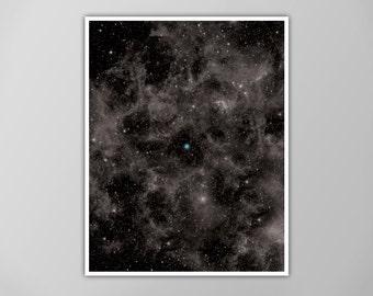 Pale Blue Dot Poster, Pale Blue Dot Print, Pale Blue Dot Galaxy Poster, Wall Art, The Cosmos Home Decor, The Pale Blue Dot Art Print, Earth
