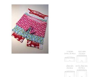 PDF pattern. Lady Boxers Lingerie. Size 32-34 - 60 (XS - 4XL)