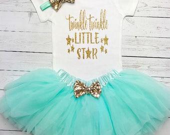 Twinkle Twinkle Little Star First Birthday Outfit, First Birthday Outfit Girl, 1st Birthday Outfit, 1st Birthday Girl, First Birthday, Girl
