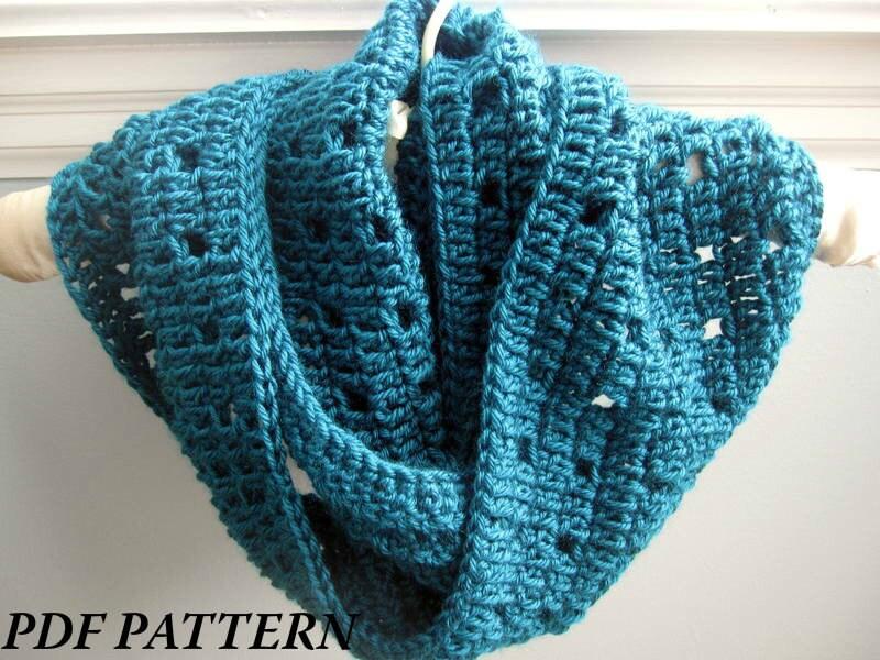 CROCHET PATTERN PDF - Easy Crochet Cowl / Infinity Scarf -- Free ...