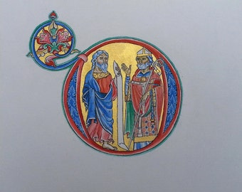 Reproduction, medieval illumination, Winchester Bible