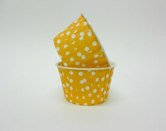 Orange Polka Dot Candy/Nut Cup - Candy, Nut, Cup, Cupcake