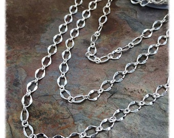 3ft Silver Hammered Galeria Chain Bestseller