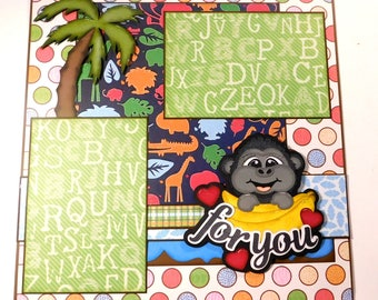 Bananas for You Singe Page Scrapbook Layout