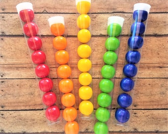 Set of 25 Gumball Tubes, Candy Tubes, Gumball Favors, Gumball Favor Tubes, Plastic Tubes, Wedding Bubblegum Tubes Candy Not Included