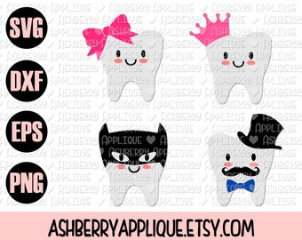 Tooth SVG/DXF Cut File - Instant Download - Vector Clipart - Iron On - Cricut - Silhouette - Tooth Fairy - Boy Pillow - Girl Pillow
