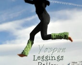 Knitting Pattern for Bulky Chunky Leggings for Dance and Yoga by Yospun