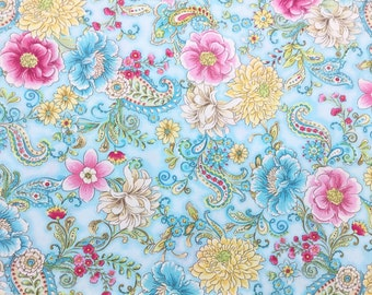 Love Letter Paisley Aqua ~  Love Letter Paisley Collection, Chong A Hwang for Timeless Treasures, Out of Print