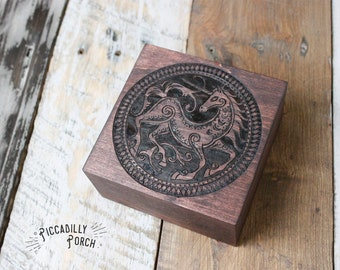 Wood Burned Trinket Box