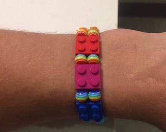PRIDE Rainbow Lego Bracelets
