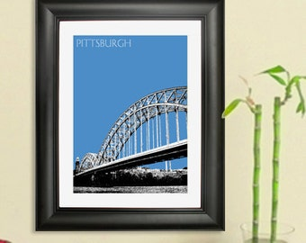 Pittsburgh Skyline Poster - Pittsburgh 16th St Bridge Art Print