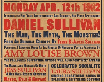 Music Hall Custom Bill Poster Print - Individual Version - A3