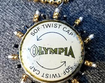 Olympia cap sunburst pendant