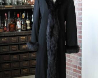 Marvin Richards for Saks Fifth Avenue Vintage Black Fur Jacket Sz 4 (Sm/Med)!!!!!
