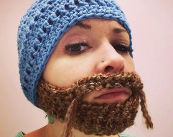 Crocheted Beard Hat