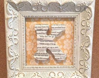 Framed Letter K, Small framed book letter, Book lover gift, Book Page Letter, Book Art, Decorative Wood Letter, Wall Decor Initial