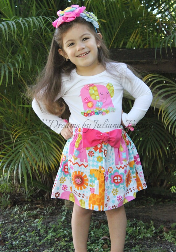 Kids Pink Dress Girls Christmas Outfit Girls Holiday Dress