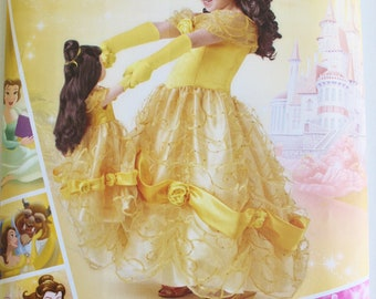 Simplicity Pattern 8407 A  Belle Costume Girls Size 3-8 New Uncut Factory Folded