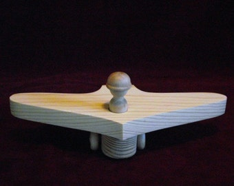 Stealth Bomber with Peg Doll, Unfinished Pine