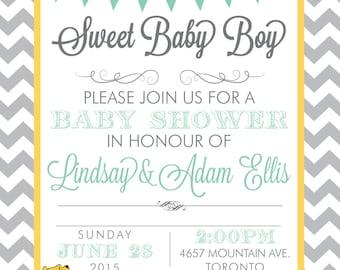 Baby Shower Invitation Digital Printable File