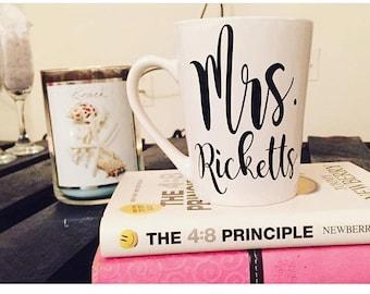 Personalized Mrs. Coffee Mug