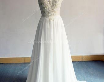 Halter wedding dress | Etsy