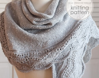 Knitting Pattern Shawl. Crescent Shawl Pattern. Knitting accessories. Knitting Pattern. Knit Shawl Pattern. Shawl Pattern. Crescent Shawl