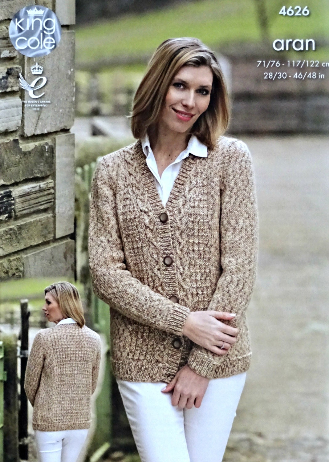 Womens knitting pattern k4626 ladiesmens long sleeve v neck cable womens knitting pattern k4626 ladiesmens long sleeve v neck cable cardigan knitting pattern aran worsted king cole dt1010fo