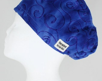 Surgical Scrub U Hat for Women - Embroidered Azure