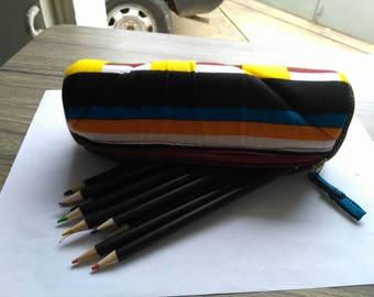 T011 - Kit school round wax (pencil box) canvas