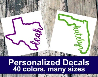 Personalized State Decal